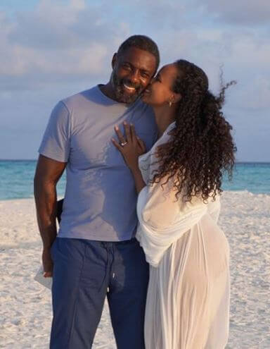 Idris with his wife Sabrina